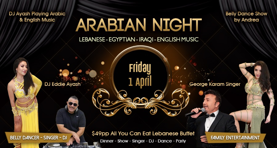 Arabian Night - Arabic Music DJ - Dancing - Middle Eastern Buffet