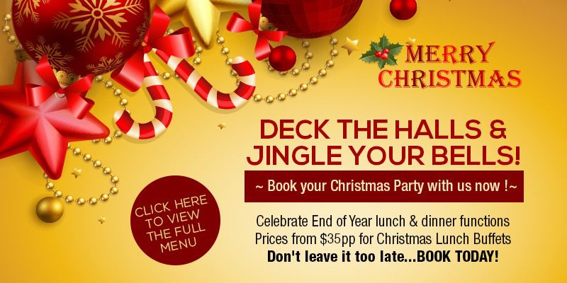 Christmas Party & Function Menus with Dinner & Show